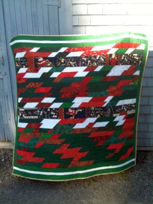 Ramona Quilter Fun with Fabric: Holly Lasagna quilt